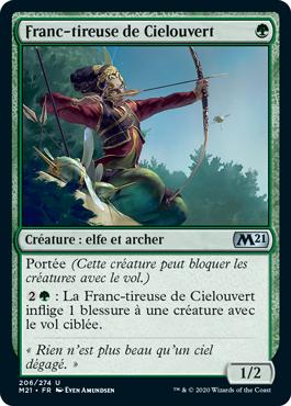 Franc-tireuse de Cielouvert