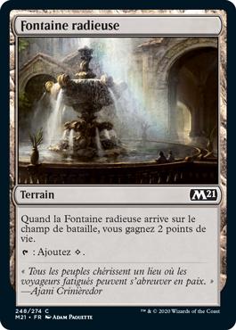 Fontaine radieuse