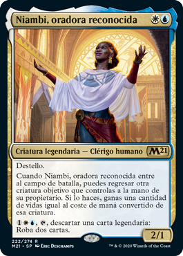 Niambi, oradora reconocida