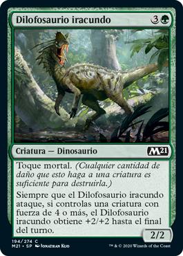 Dilofosaurio iracundo