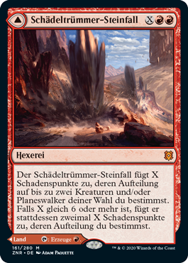 Schädeltrümmer-Steinfall