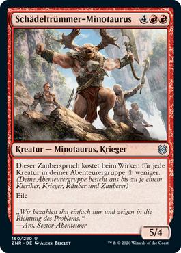 Schädeltrümmer-Minotaurus