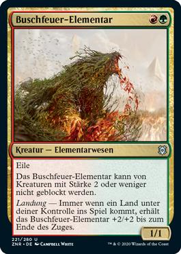 Buschfeuer-Elementar