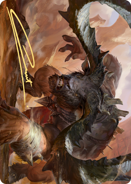 Moraug, Fury of Akoum Art Card