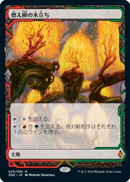 燃え柳の木立ち