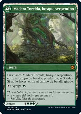 Madera Torcida, bosque serpentino