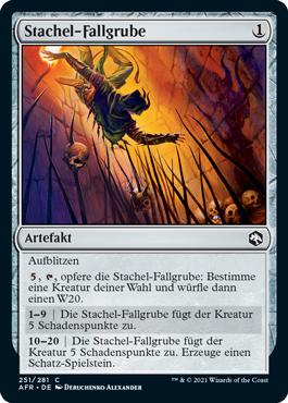 Stachel-Fallgrube