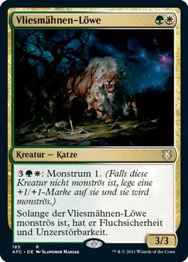 Vliesmähnen-Löwe