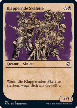 Klappernde Skelette