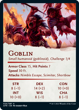 Goblin Stat Card 24/81