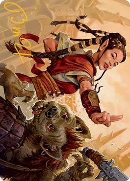 Half-Elf Monk Art Card 28/81