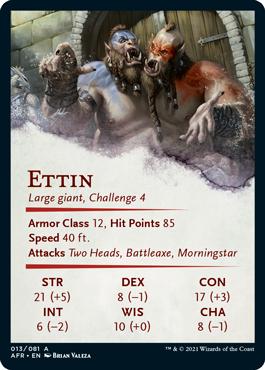 Ettin Stat Card 13/81