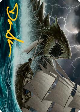 Dragon Turtle Art Card 10/81
