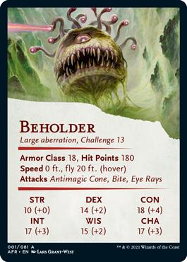 Beholder Stat Card 1/81