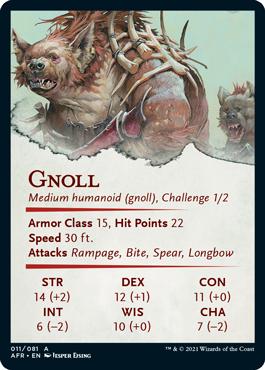 Gnoll Stat Card 11/81