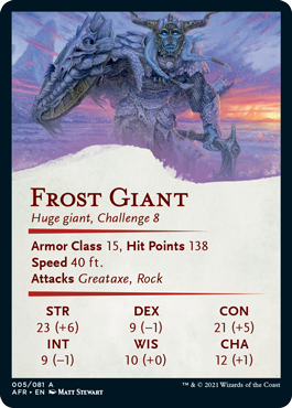 Frost Giant Stat Card 5/81