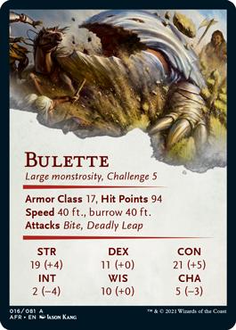 Bulette Stat Card 16/81