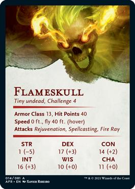 Flameskull Stat Card 14/81