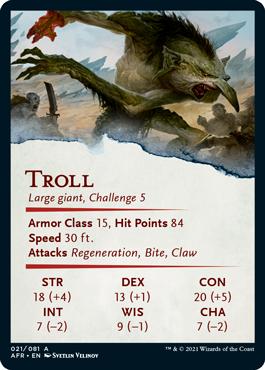 Troll Stat Card 21/81