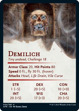 Demilich Stat Card 4/81