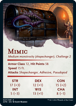 Mimic Stat Card 27/81