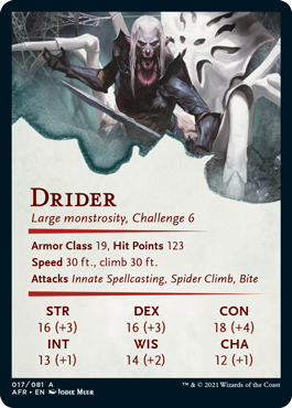 Drider Stat Card 17/81