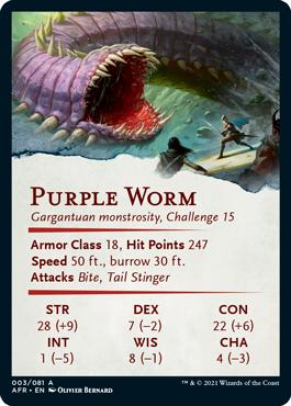 Purple Worm Stat Card 3/81