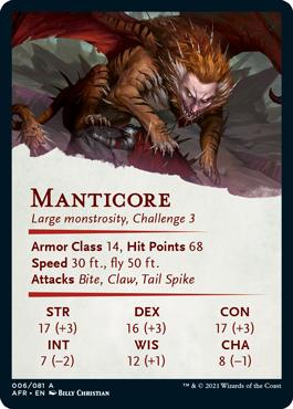 Manticore Stat Card 6/81