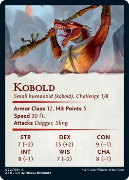 Kobold Stat Card 22/81