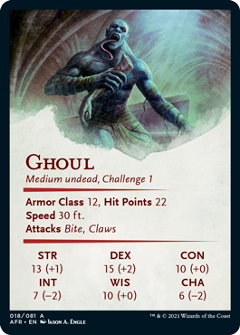Ghoul Stat Card 18/81