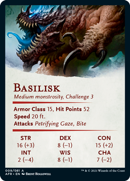 Basilisk Stat Card 9/81