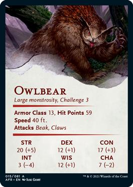 Owlbear Stat Card 15/81