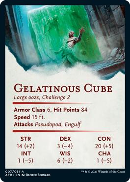 Gelatinous Cube Stat Card 7/81