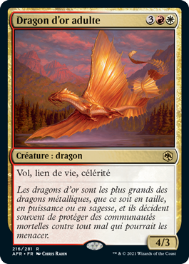 Dragon d'or adulte