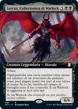 Lorcan, Collezionista di Warlock