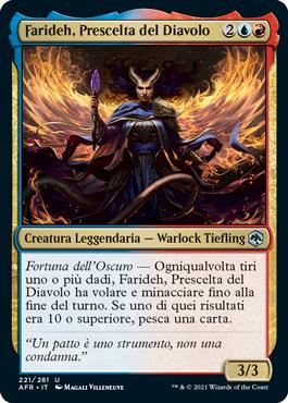 Farideh, Prescelta del Diavolo