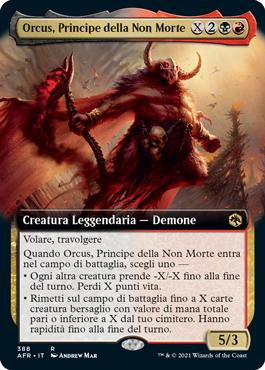 Orcus, Principe della Non Morte