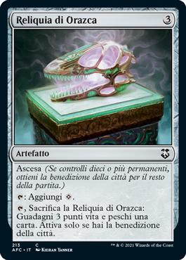 Reliquia di Orazca