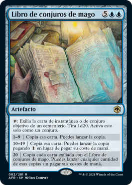 Libro de conjuros de mago