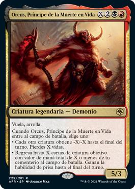 Orcus, Príncipe de la Muerte en Vida
