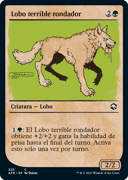 Lobo terrible rondador