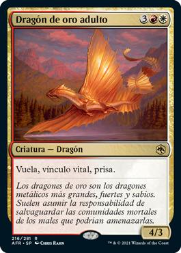 Dragón de oro adulto