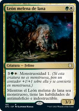 León melena de lana