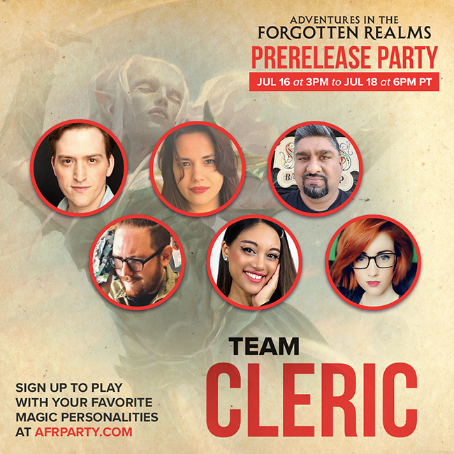 Team Cleric banner with influencer pictures