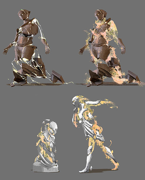 Spirit statues
