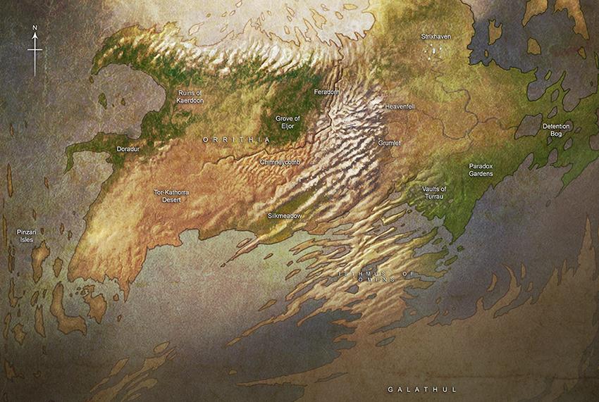 Map of Arcavios
