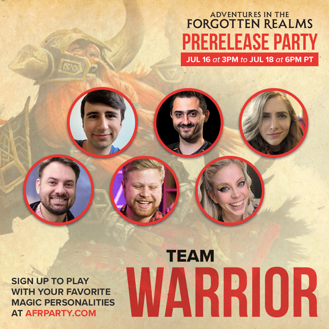 Team Warrior banner with influencer pictures