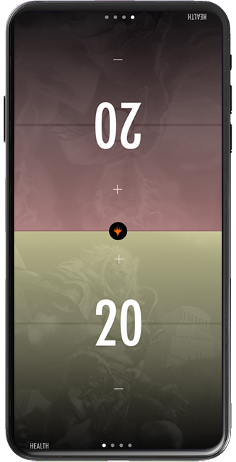 Magic Companion app screen showing the the life tracker