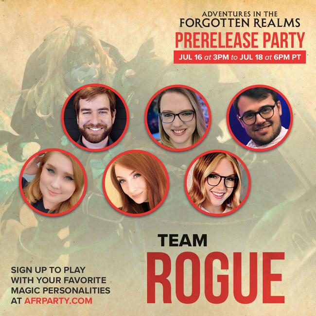 Team Rogue banner with influencer pictures
