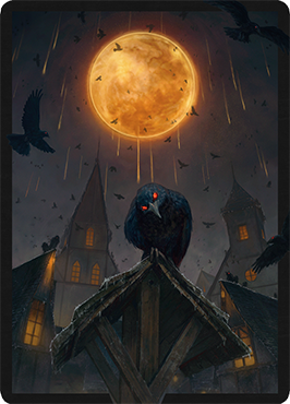 Ominous Roost card sleeve in MTG Arena